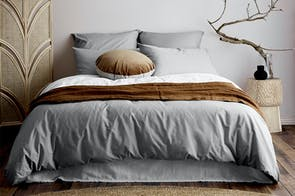 Vintage Organic Cotton Pebble Duvet Cover by Aura