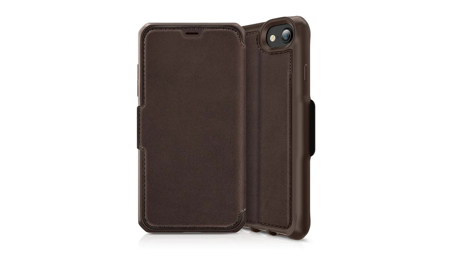 ITSKINS Hybrid Folio Case for iPhone SE (2nd Gen), 7/8 - Brown