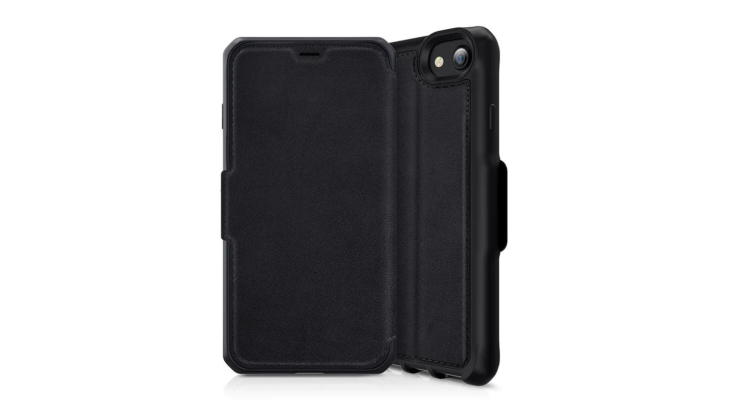 ITSKINS Hybrid Folio Case for iPhone SE (2nd Gen), 7/8 - Black