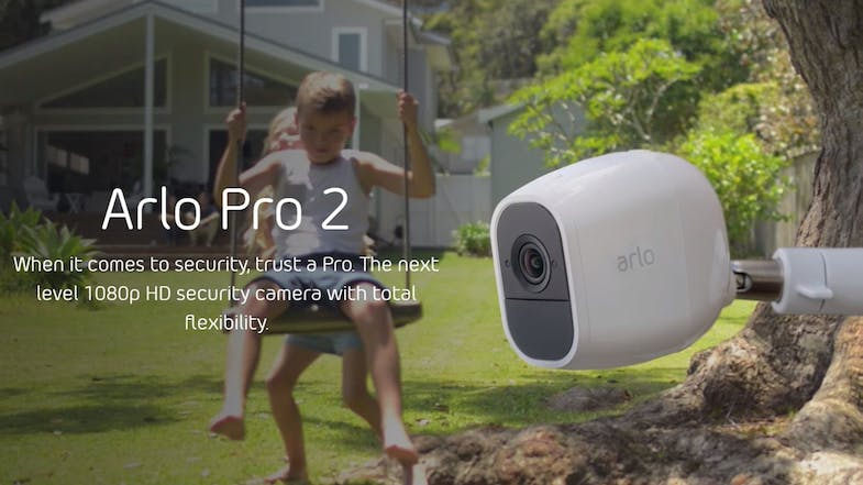Arlo Pro 2 Smart Home Security System with 4 HD Cameras
