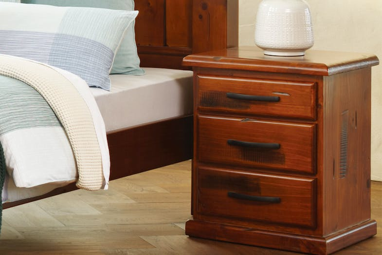 Rye 3 Drawer Bedside by John Young Furniture