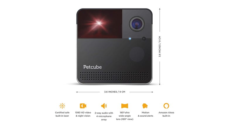 Petcube Play 2 Smart Pet Camera with Interactive Laser Toy Silver