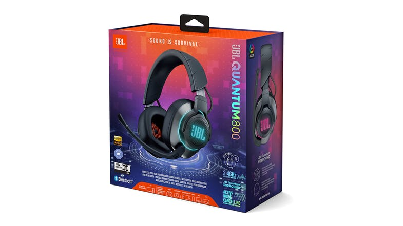 JBL Quantum 800 Wireless Over-Ear Gaming Headset - Black