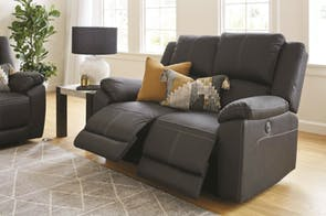 Gaucho 2 Seater Powered Fabric Recliner Sofa