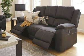 Gaucho 3 Seater Powered Fabric Recliner Sofa