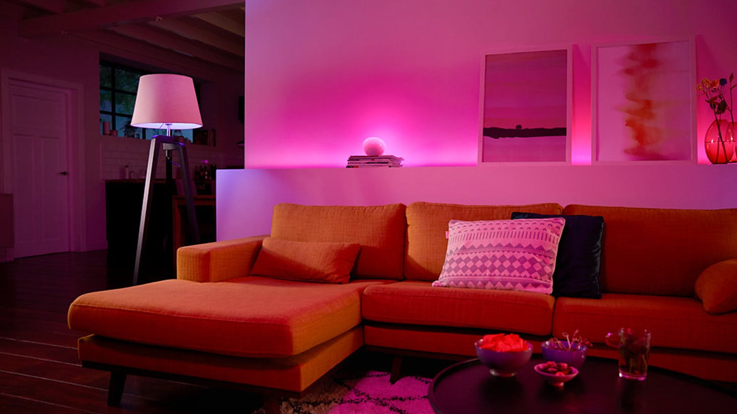 Philips Hue White and Colour Ambiance Single E27 Light Bulb