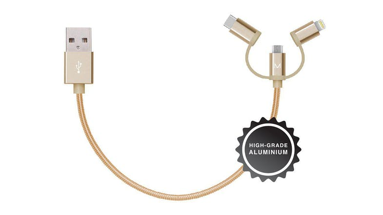 Moyork Lumo 3-in-1 cable - 15cm - Dubai Gold