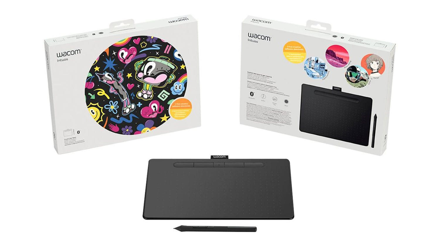 Wacom Intuos Creative Pen Bluetooth Tablet (Medium) - Black