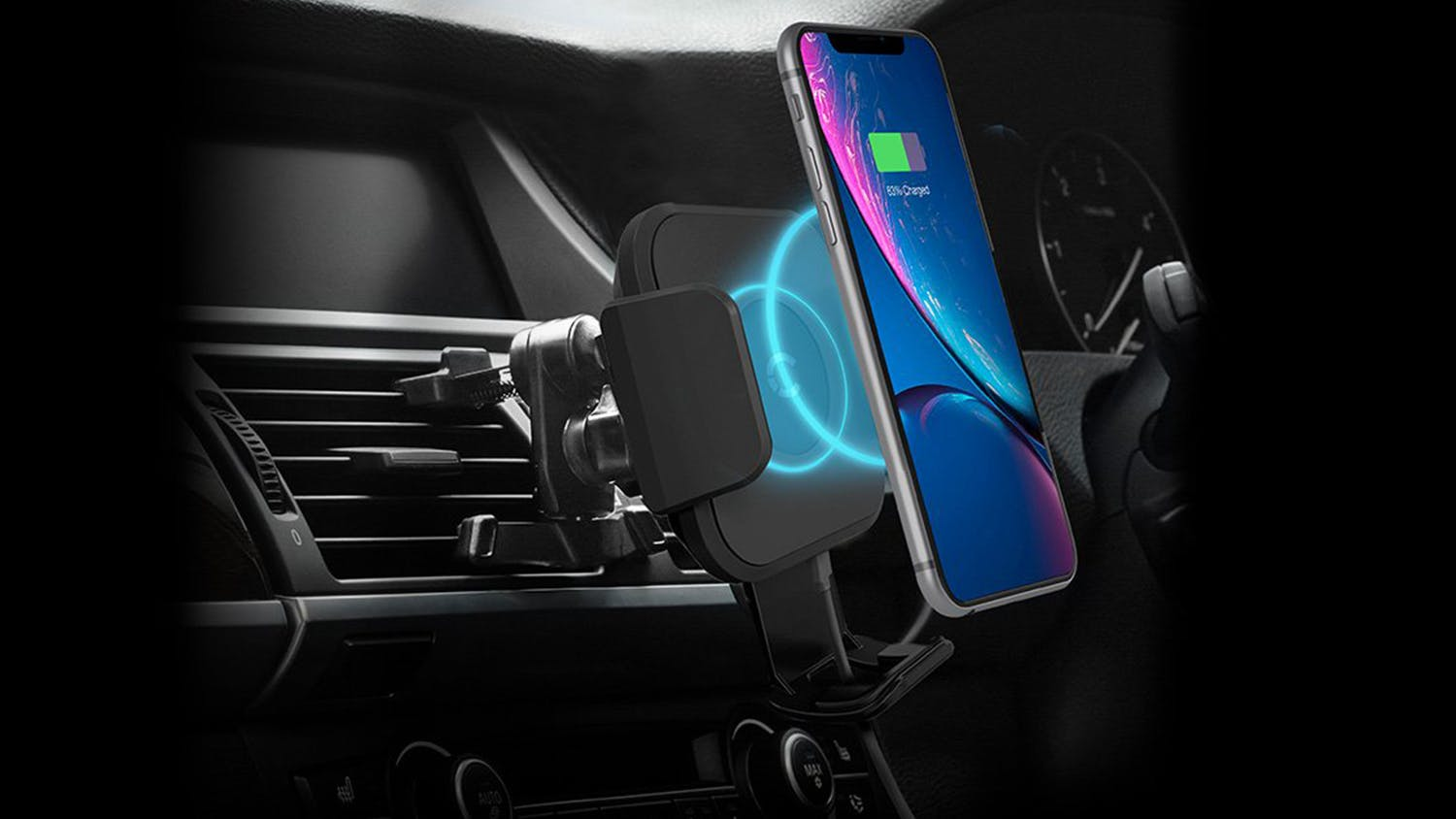 Cygnett Race 10W Wireless Vent Car Charger