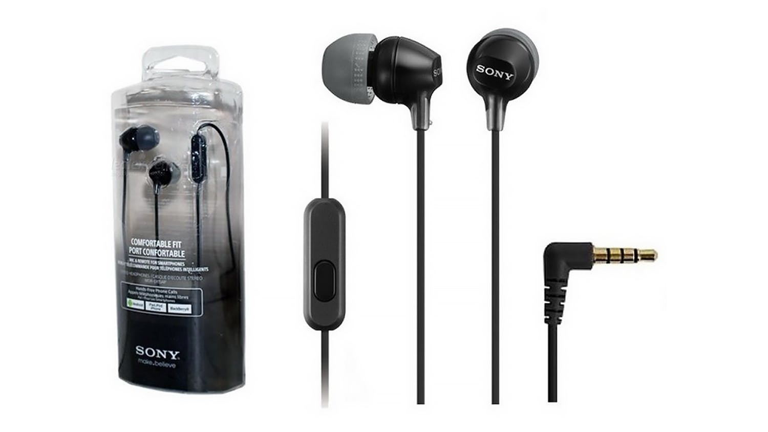 Sony EX15AP In-Ear Headphones - Black