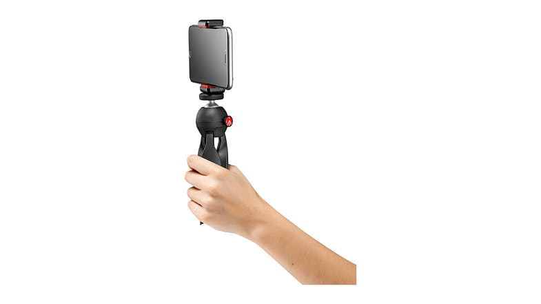 Manfrotto PIXI Mini Tripod Black with Universal Smartphone Clamp
