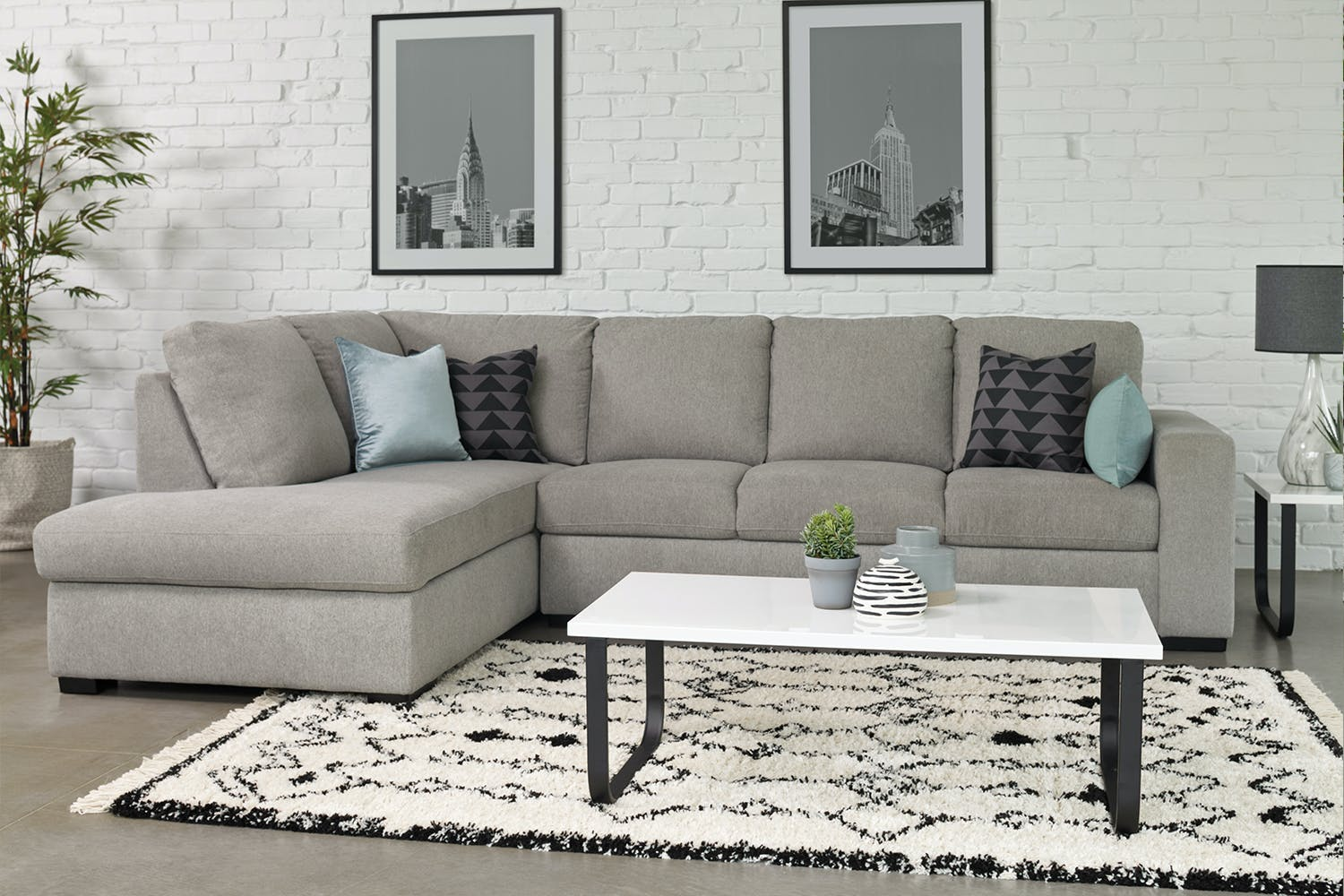 Neptune 4 Seater Fabric Sofa With