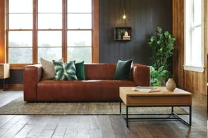 Vercelli 3 seater Leather Sofa by Debonaire Furniture