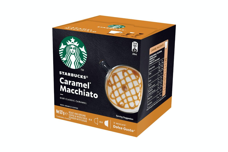 Image of Starbucks Dolce Gusto Caramal Macchiato Coffee Capsules