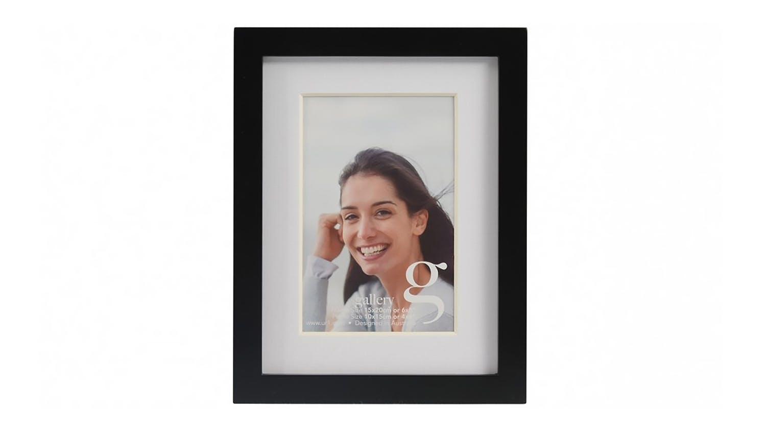 UR1 Gallery 6x8 Photo Frame with 4x6 Opening - Black