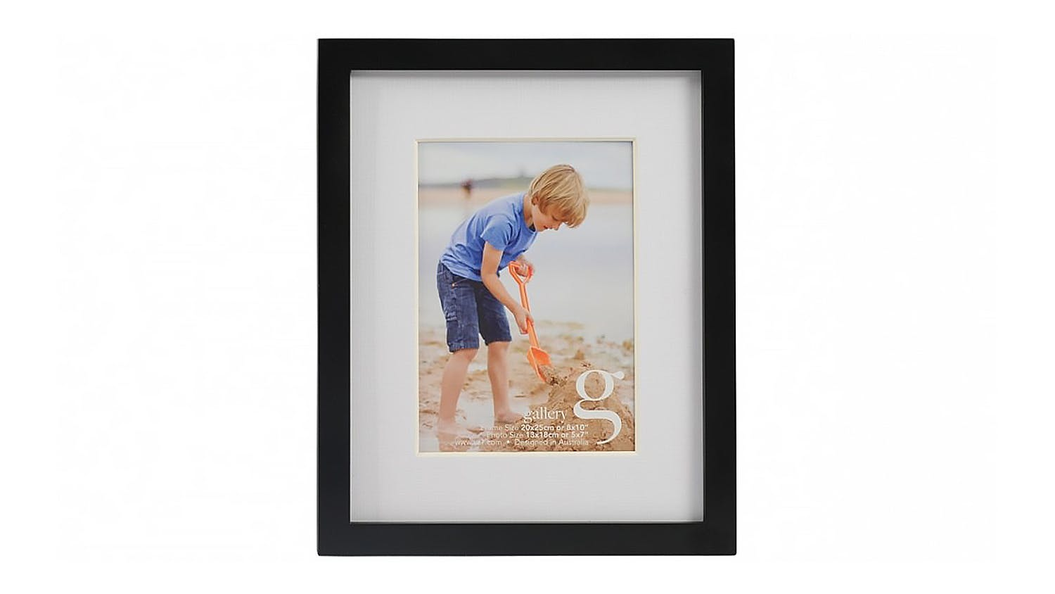 UR1 Gallery 8x10 Photo Frame with 5x7 Opening - Black