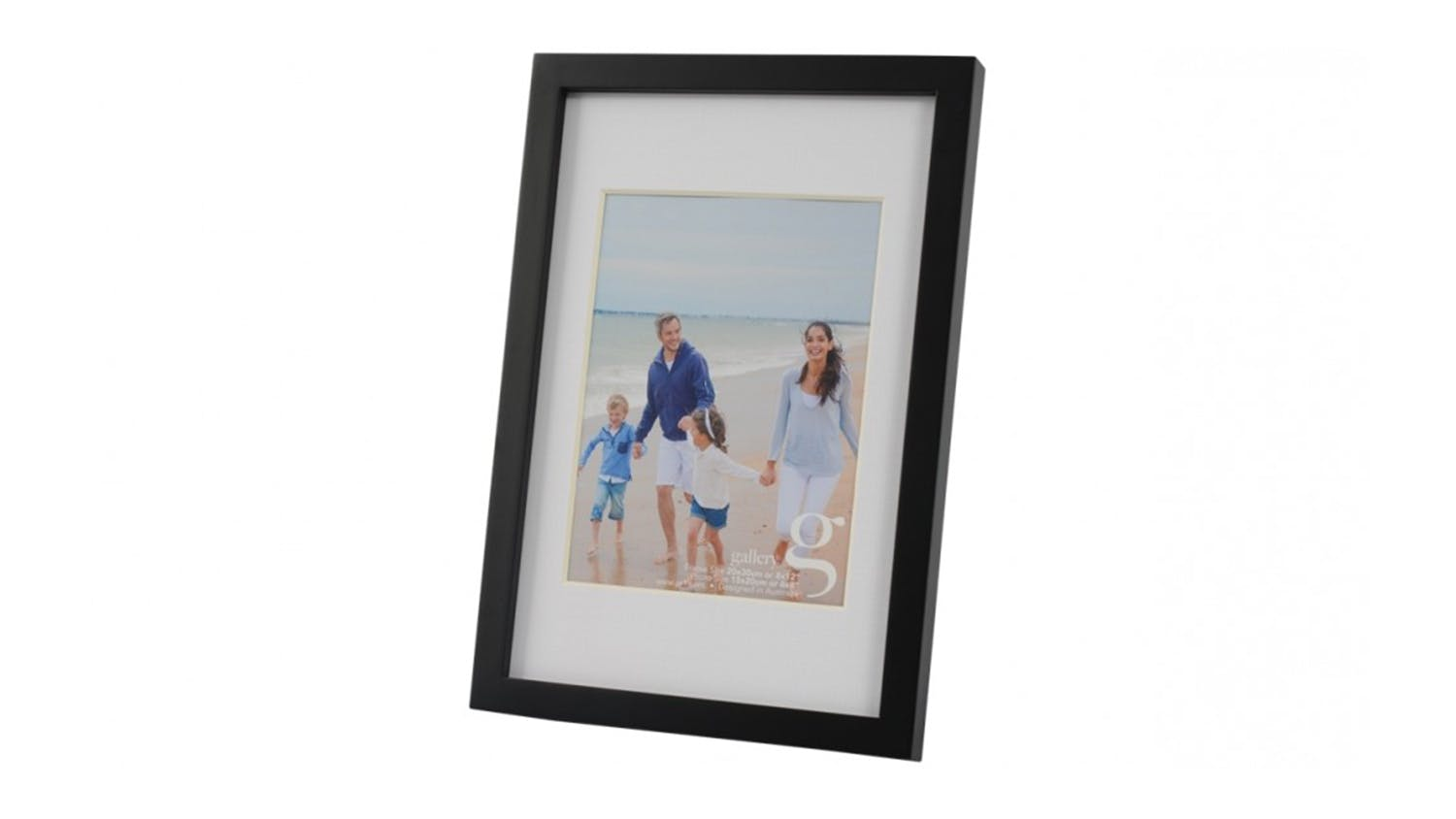 UR1 Gallery 8x12 Photo Frame with 6x8 Opening - Black