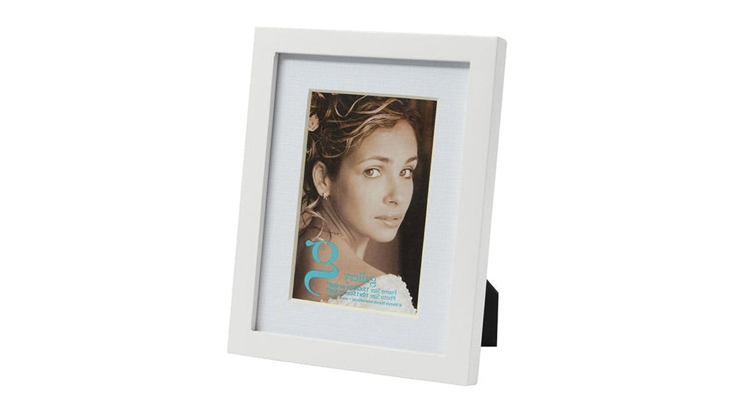 UR1 Gallery 6x8 Photo Frame with 4x6 Opening - White