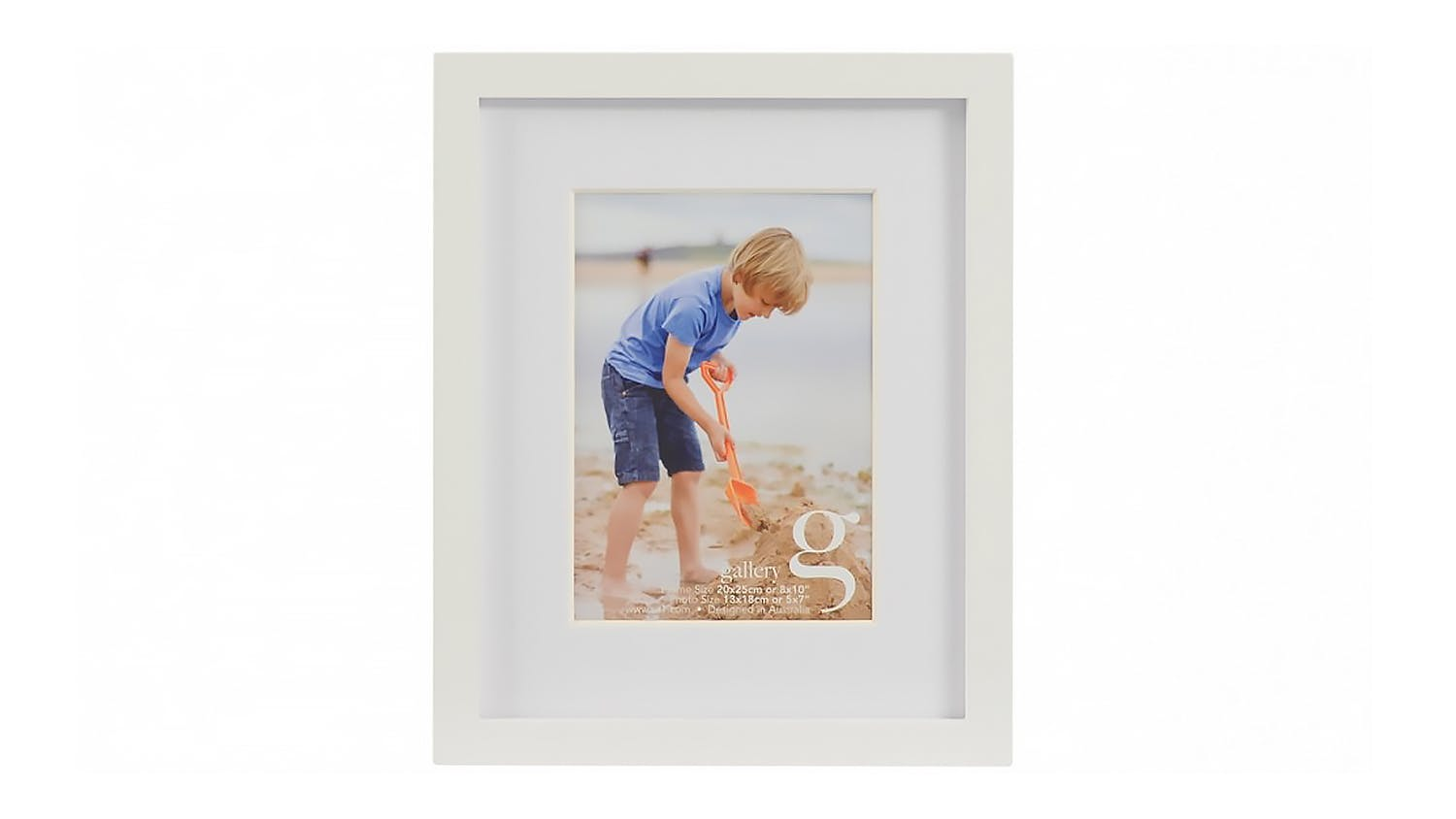 UR1 Gallery 8x10 Photo Frame with 5x7 Opening - White