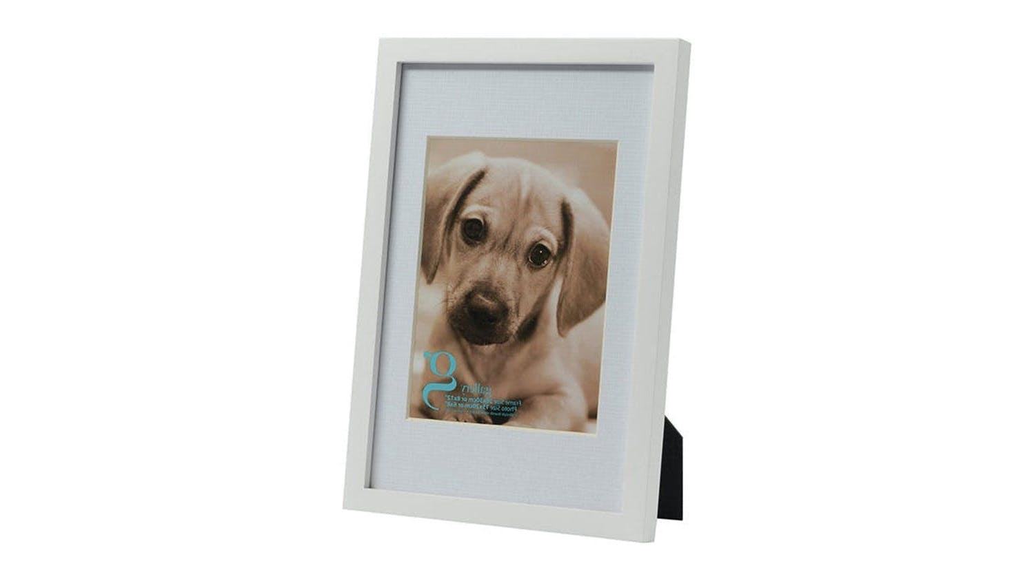 UR1 Gallery 8x12 Photo Frame with 6x8 Opening - White