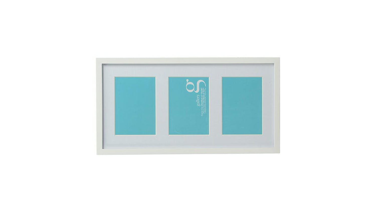UR1 Gallery 10x20 Photo Frame with 3 5x7 Openings - White