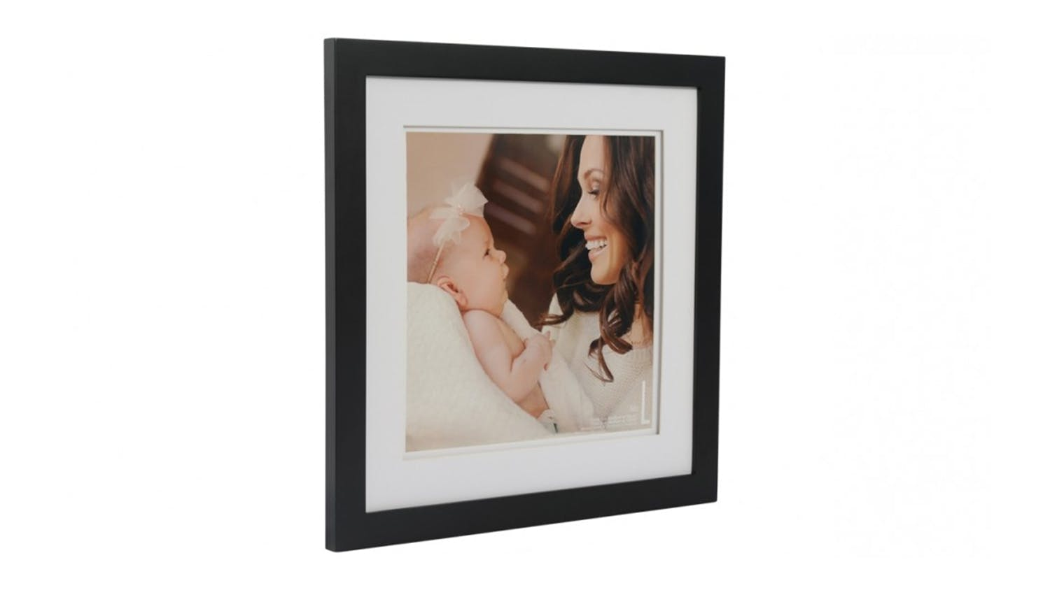 UR1 Life 16x16 Photo Frame with 12x12 Opening - Black