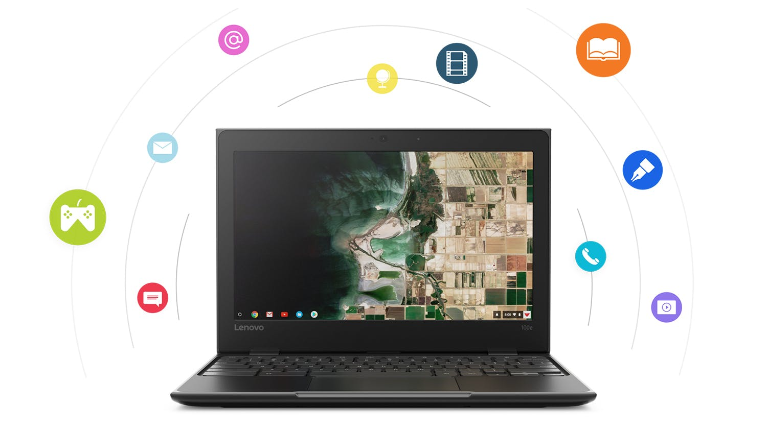 "Lenovo Chromebook 100e 11.6""  2nd Gen Laptop"
