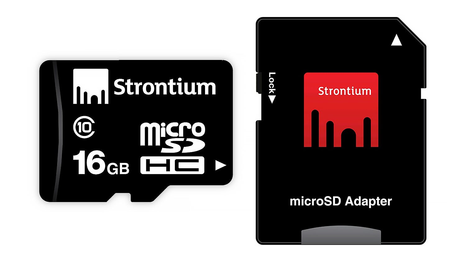 Strontium 16GB Micro SD Card with Adapter