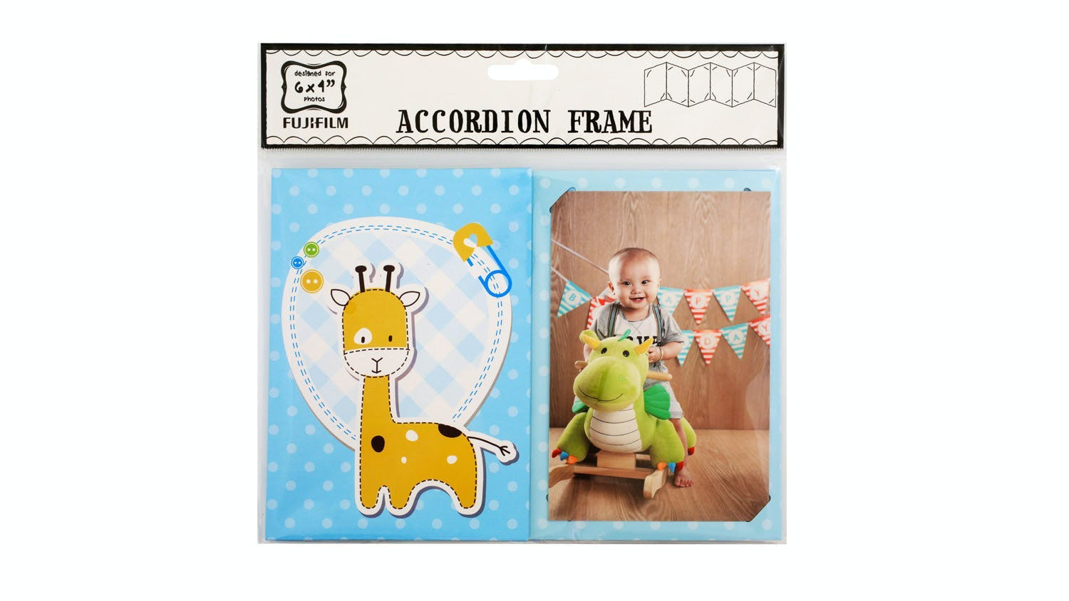 "Instax 6x4"" Accordion Photo Frame - Baby Boy"