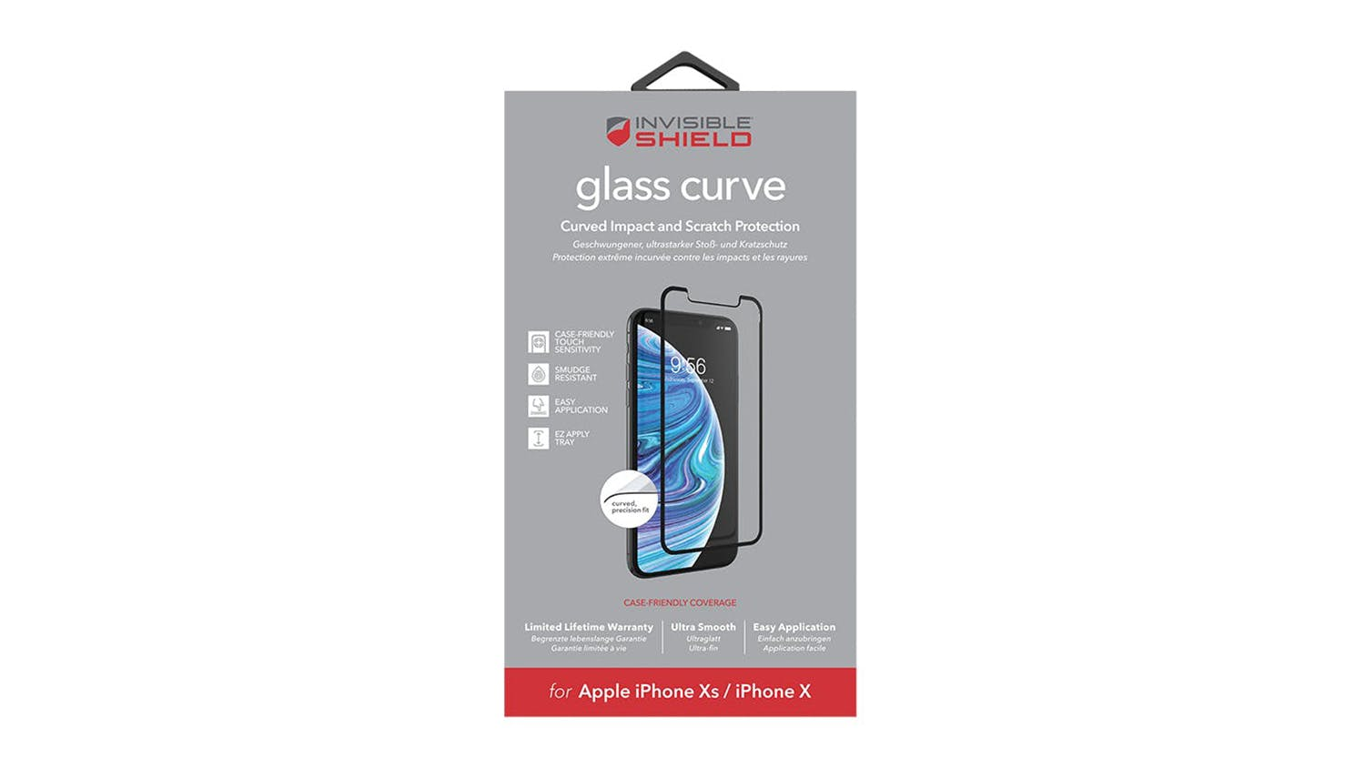 Zagg Invisibleshield Glass Curve Screen Protector for iPhone XS