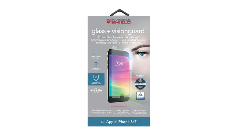 Zagg Invisibleshield Glass+ VisionGuard for iPhone 7/8