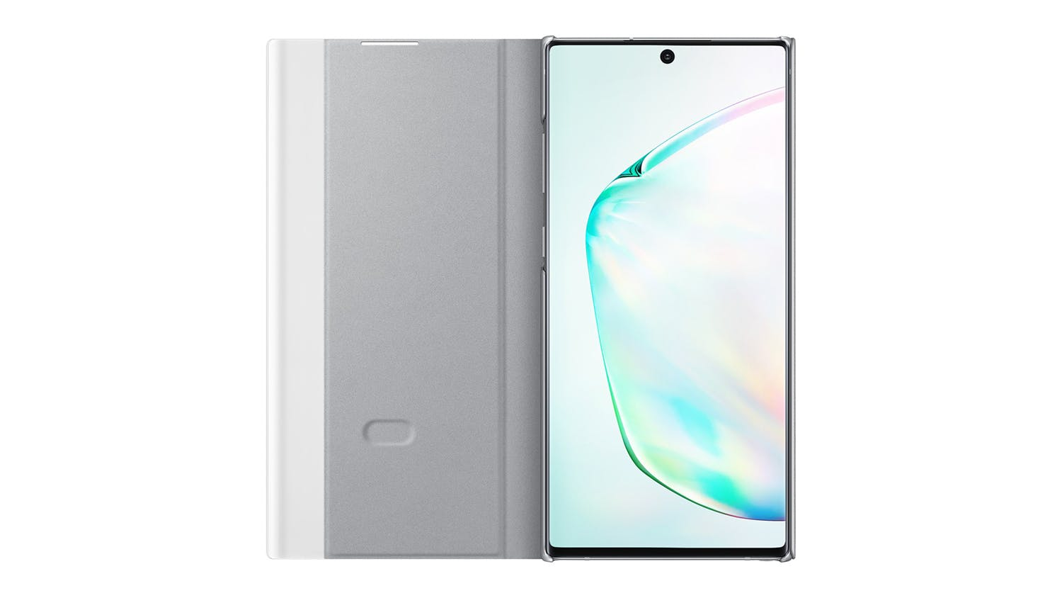 Samsung Galaxy Note10 Plus Clear View Stand Cover - Silver