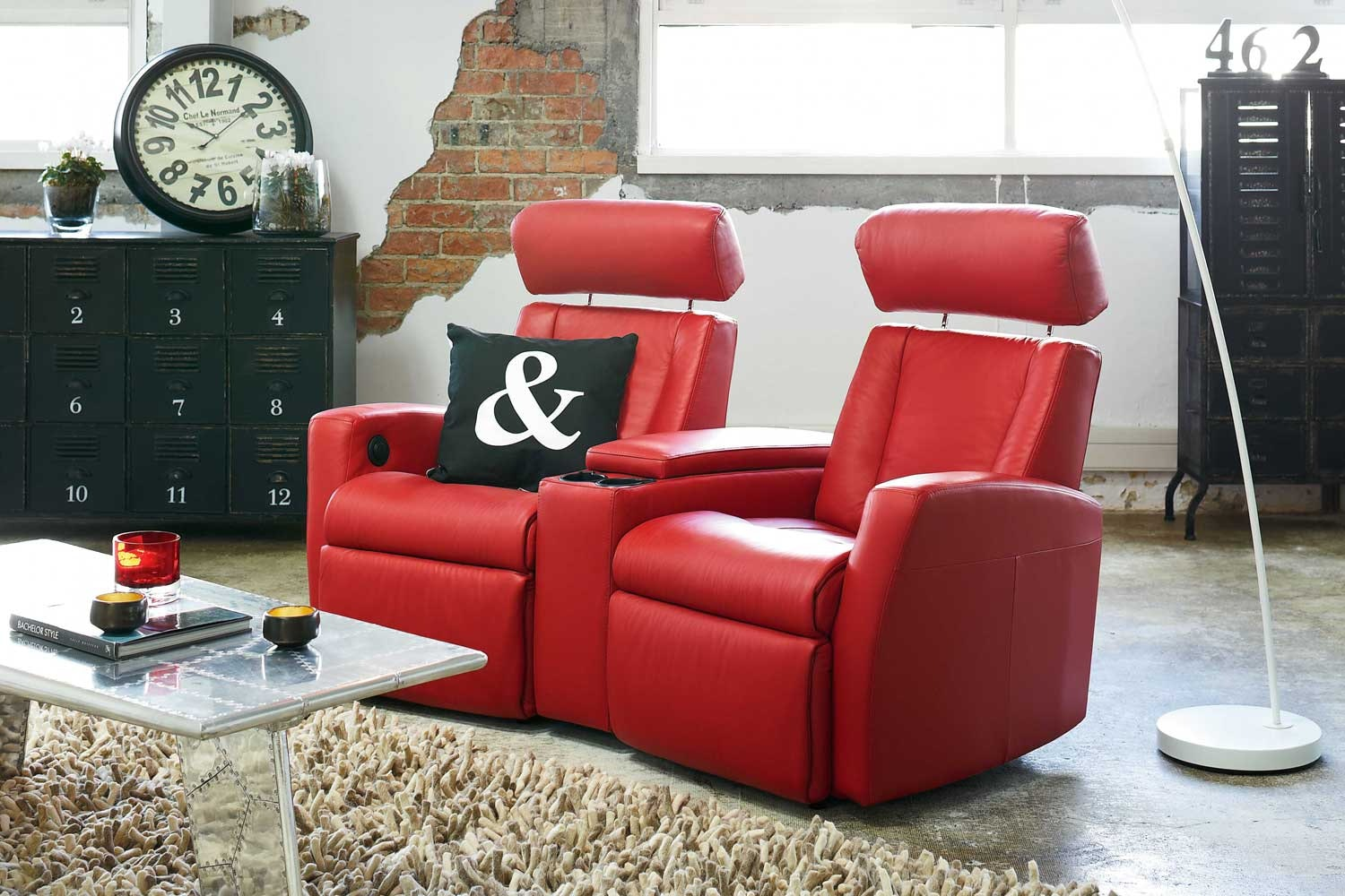 Lotus 2 Seater Electric Lounge Recliner -Trend Leather by IMG