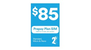 2degrees $85 Monthly Prepay Plan SIM