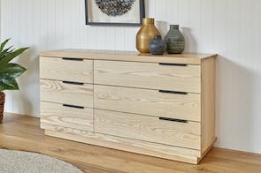 Mckenzie 6 Drawer Large Lowboy by Coastwood Furniture