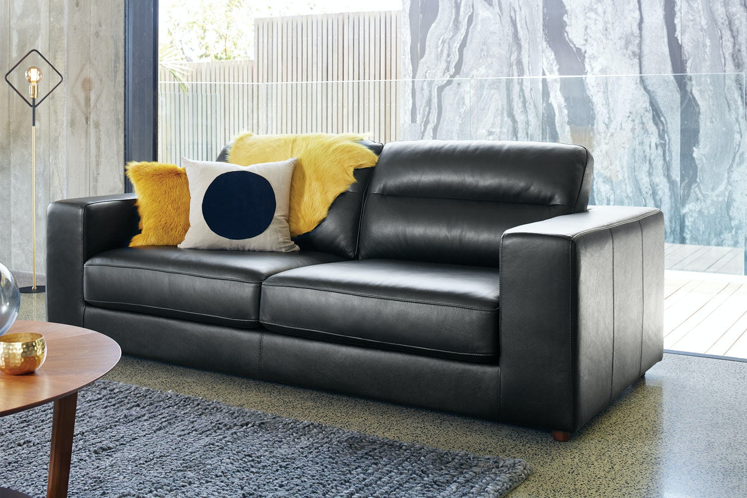 Picture of: Romano 3 Seater Leather Sofa Harvey Norman New Zealand