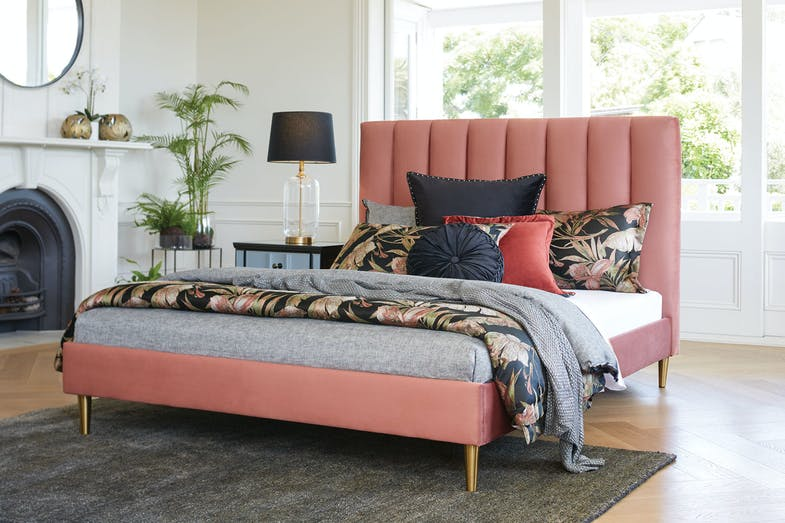 Waterfall Queen Bed Frame by Nero Furniture - Rust