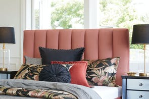 Waterfall Queen Headboard by Nero Furniture - Rust