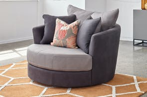Atlanta Large Fabric Swivel Chair