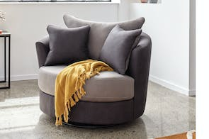 Atlanta Small Fabric Swivel Chair