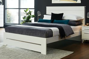 Aza Queen Bed Frame by Platform 10 - White