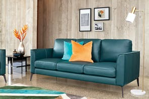 Selene 3 Seater Leather Sofa