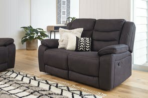 Turner 2 Seater Fabric Recliner Sofa