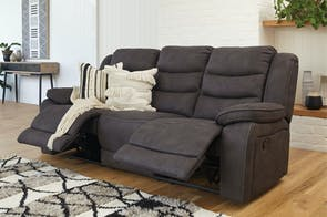 Turner 3 Seater Fabric Recliner Sofa