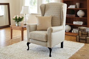 Westwood Fabric Wing Chair by Furniture Haven
