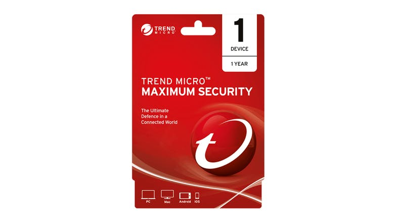 Trend Micro Maximum Security - 1 Device 12 Months