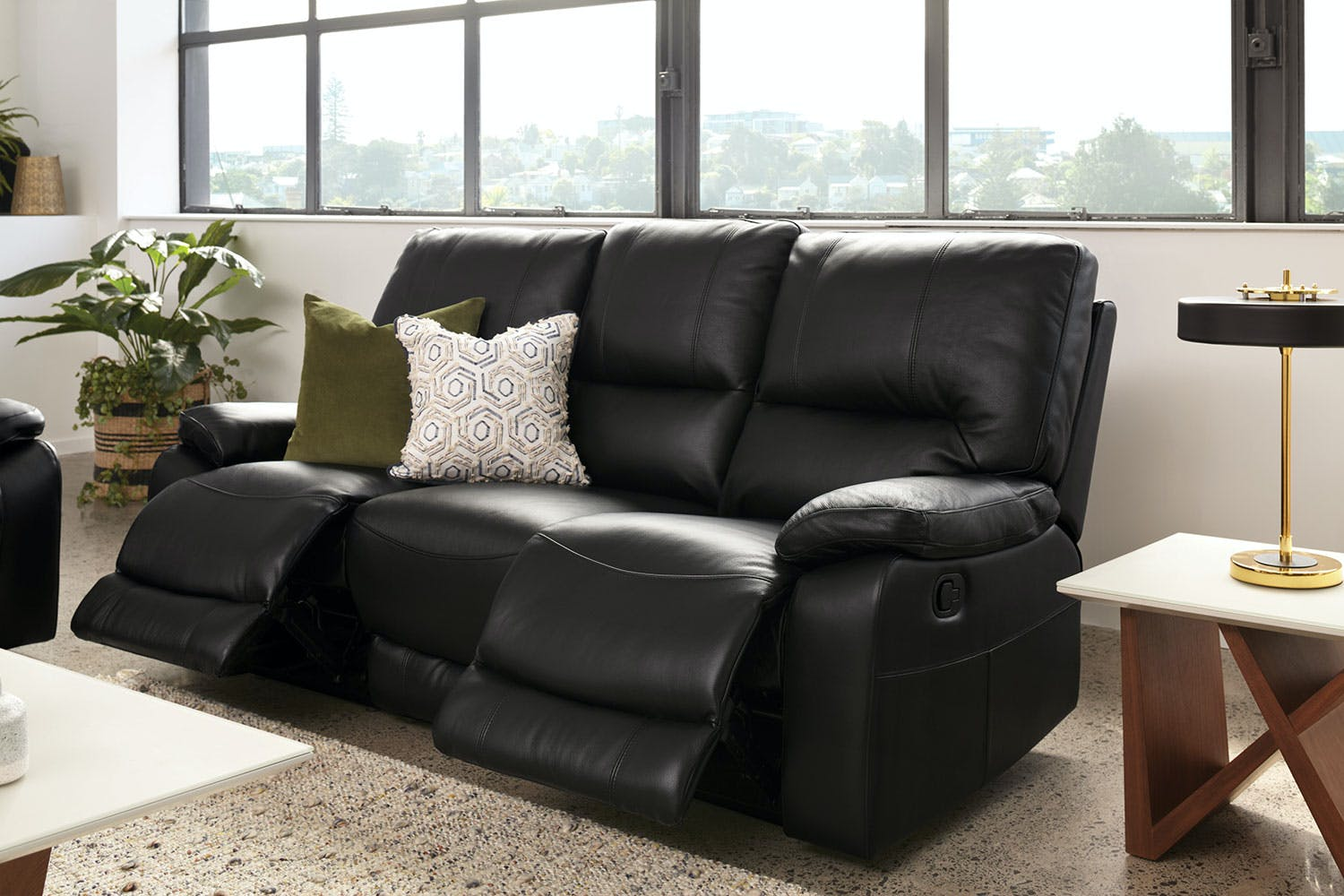 Waterford 3 Seater Leather Recliner Sofa