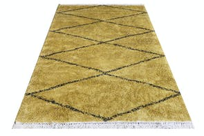 Zagros Ochre Floor Rug by Limon
