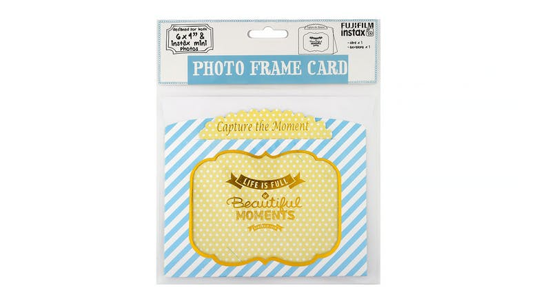 "Instax 6x4"" Photo Frame Card - Blue & Yellow"