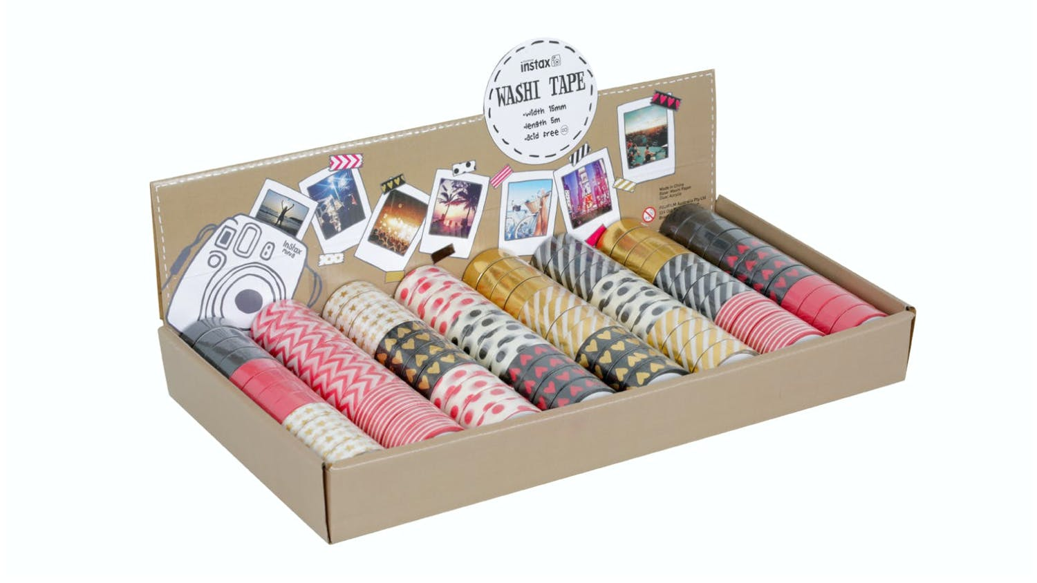 Instax Washi Tape Single Roll Pack - Hearts